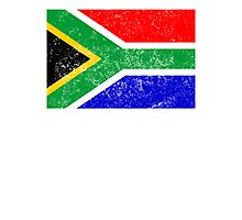 Distressed South Africa Flag Photographic Print