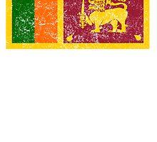 Distressed Sri Lanka Flag by kwg2200