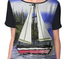 Ship in the Ocean Chiffon Top