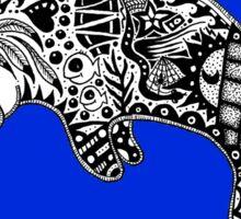 Manatee blue Sticker