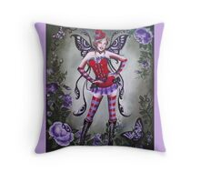 The goth red hat fairy tote bag Throw Pillow