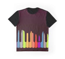 Piano Colorful Minimalist Graphic T-Shirt