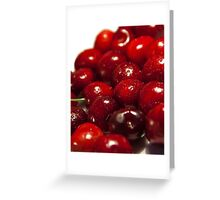 background of cherry fruit Greeting Card