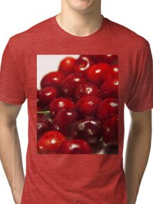 background of cherry fruit Tri-blend T-Shirt
