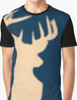 Dotted Deer Design Graphic T-Shirt