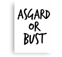 Asgard or Bust Canvas Print