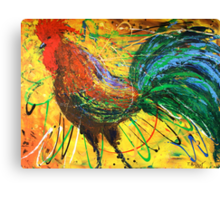 The King Rooster Canvas Print