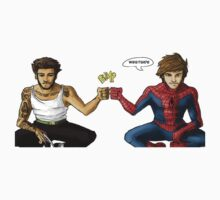 Louis and Zayn as Spiderman and Wolverine by Aki-anyway