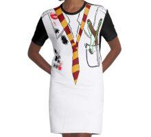 Old School Tie 11 Graphic T-Shirt Dress