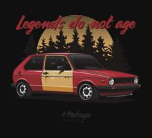 VW Golf GTI (red) One Piece - Long Sleeve