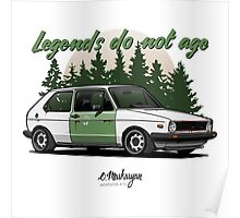 VW Golf GTI (white) Poster