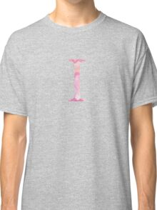 Pink Iota Watercolor Letter Classic T-Shirt
