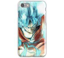 Dragon ball - Goku SSJ blue iPhone Case/Skin