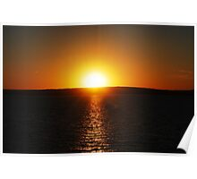 Sunset On Lake Superior 3 Poster