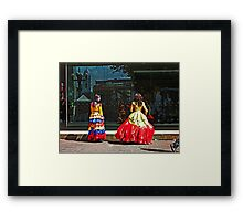 Typical Dresses Framed Print