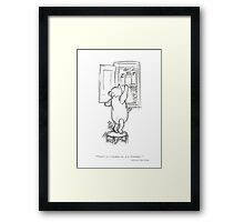 Winnie the Pooh - in the Honey Cupboard Framed Print
