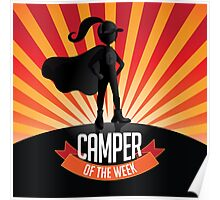 Female Camper of the week Poster