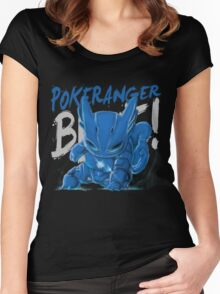 BLUE! Women's Fitted Scoop T-Shirt