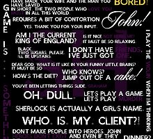 Sherlock Holmes Quotes Print by acrossthesun