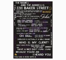 Sherlock Holmes Quotes Print T-Shirt