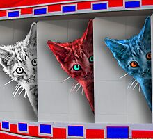 Patriotic Kittens by GolemAura