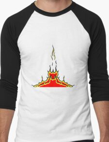 Feuer flammen  Men's Baseball ¾ T-Shirt