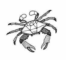 Black and White Crab  by Casey Virata