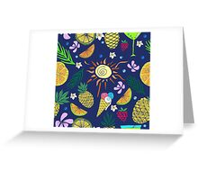 Hand drawn colorful  seamless pattern. Summertime. Greeting Card