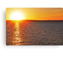 Sunset On Lake Superior 4 Canvas Print