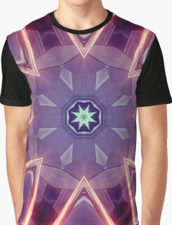 Sci-Fi Flower Kaleidoscope Graphic T-Shirt
