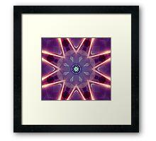 Sci-Fi Flower Kaleidoscope Framed Print