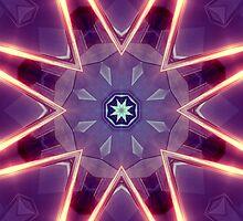Sci-Fi Flower Kaleidoscope Photographic Print