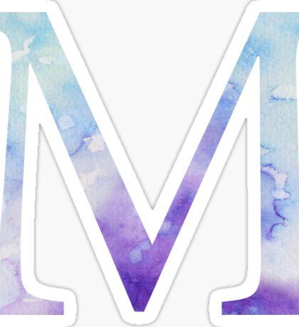 Blue Mu Watercolor Letter Sticker