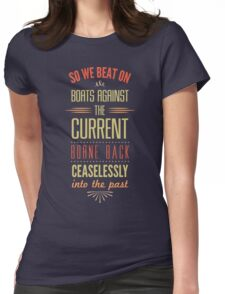 Boats Against the Current Womens Fitted T-Shirt