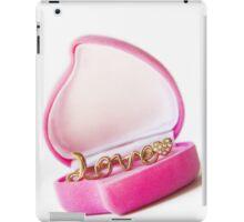 gold ring in a box heart iPad Case/Skin