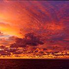Caribbean Sea Clouds at Dusk (2) by Stephen Frost