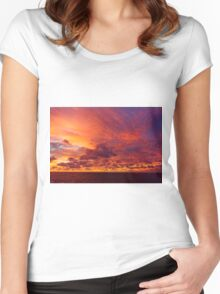 Caribbean Sea Clouds at Dusk (2) Women's Fitted Scoop T-Shirt