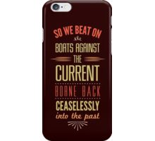 Boats Against the Current iPhone Case/Skin