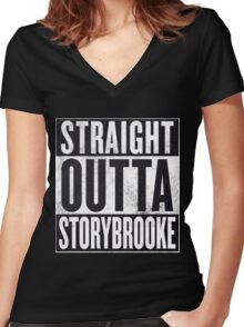 Straight Outta Storybrooke Women's Fitted V-Neck T-Shirt