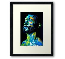 Colourful expressive portrait painting Framed Print