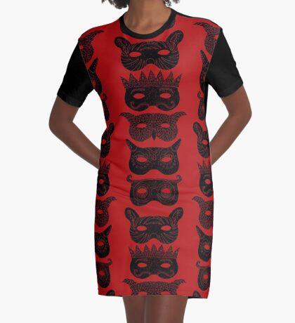 Masks Graphic T-Shirt Dress