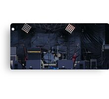 musical instruments on stage Canvas Print