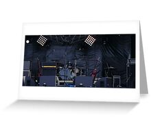 musical instruments on stage Greeting Card