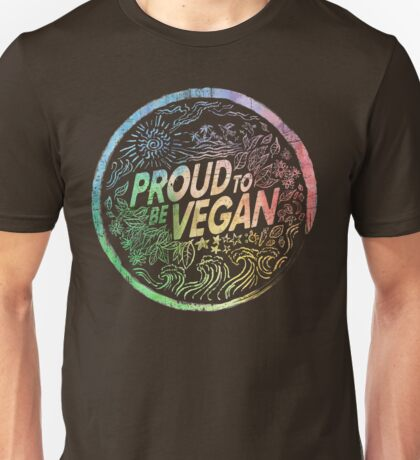 Proud to be Vegan - Rainbow Unisex T-Shirt