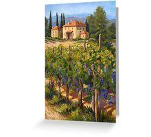 Chianti Vineyard Greeting Card