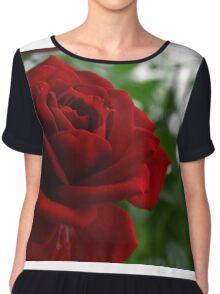 Red Rose Chiffon Top