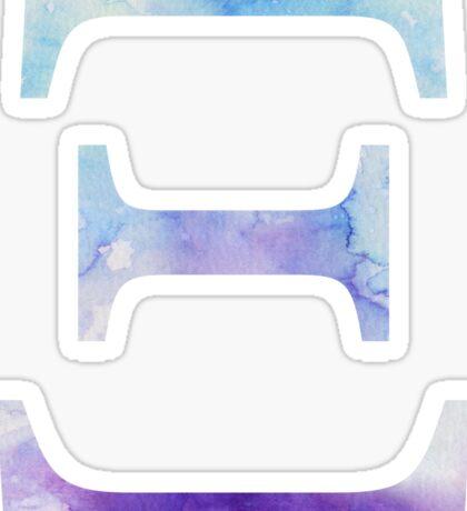 Blue Xi Watercolor Letter Sticker
