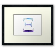 Blue Xi Watercolor Letter Framed Print