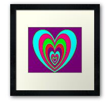 trippy heart Framed Print
