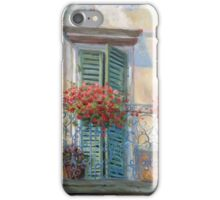 Red Floral Balcony iPhone Case/Skin